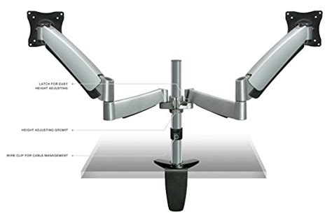 desk mount monitor arm malaysia mount it monitor desk mount dual arm with height