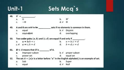 math chapter sets mcqs mcqs test  chapter sets youtube