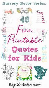 Nursery Decor S... Free Prints Quotes