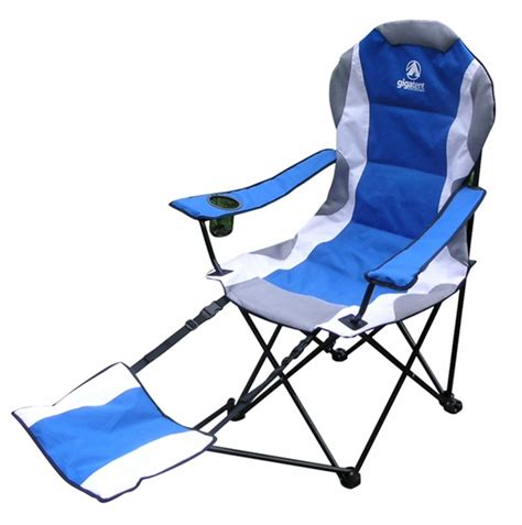 aluminium reclining folding chair with footrest aluminum cing chair with adjustable foot rest
