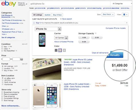 iphone 5s gold price gold iphone 5s selling for as high as 1800 on ebay
