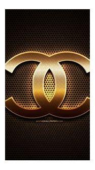 Download wallpapers Chanel glitter logo, creative, metal ...