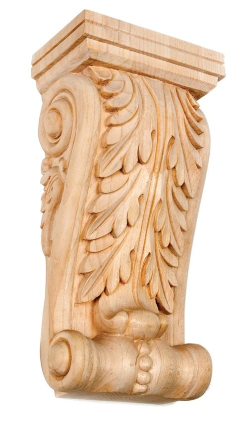 Carved Wood Corbels by Iww361 Acanthus Leaf Corbel Carved 6 Quot 9 Quot Solid