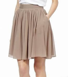 Lyst - Reiss Mason Flared Skirt in Natural