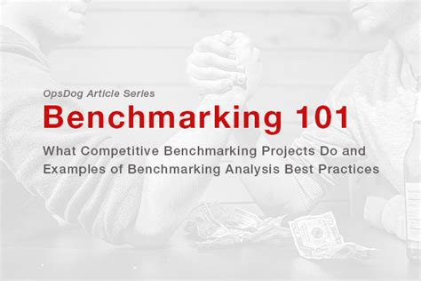 competitive benchmarking projects   examples