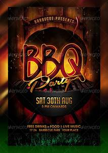 Company Party Invitation Templates Bbq Barbecue Party Flyer Template By Dilanr Graphicriver