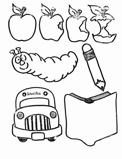 Coloring Supplies Pages Daycare Building Sheets Clip