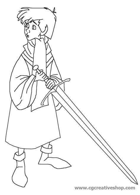 disegni da colorare disney re re 249 la spada nella roccia disney disegno da colorare
