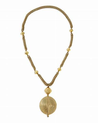 Chain Necklace Brass Medallion Pendant Jewelry Necklaces