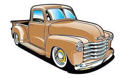 Truck Pickup Chevy 1954 Chevrolet Clipart Silhouette