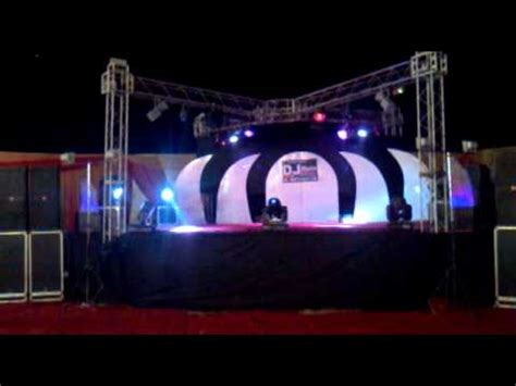 stage dj sount and lighting setup by best dj sound company
