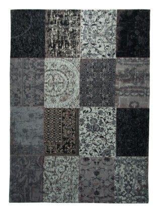 tapis classique tapis noir vintage maclou deco vintage et saints