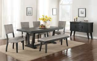 imari 7 dining room set black and grey 39 s