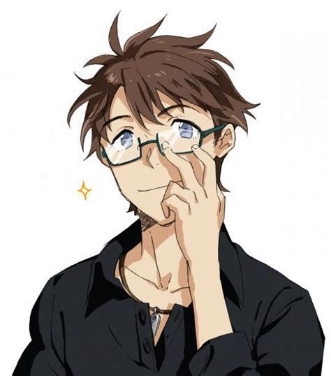 _1boy_akagi_kouhei_bespectacled_blue_eyes_brown_hair ...