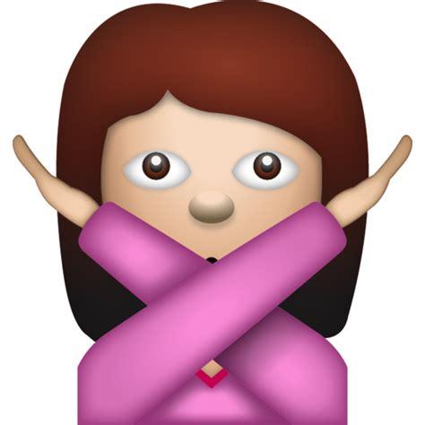 Download Woman Saying No Emoji