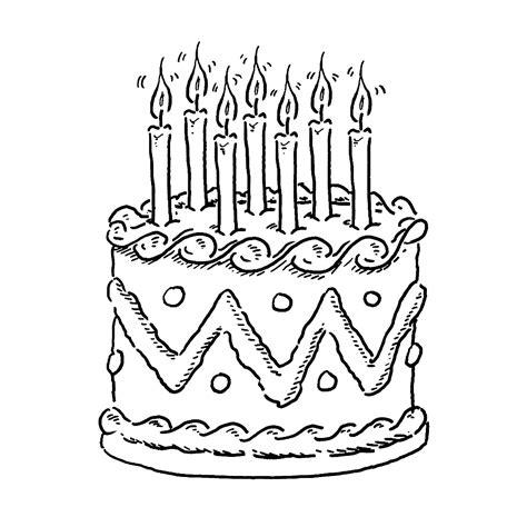 Verjaardagstaart Kleurplaat Printen verjaardagstaart stokpaard kleurplaten