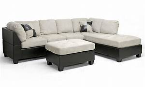 Mancini modern sectional sofa and ottoman set groupon for Sectional sofa set deals