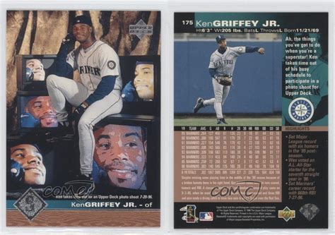 2001 Deck Ken Griffey Jr 30 by 1997 Deck 175 Ken Griffey Jr Seattle Mariners Jr