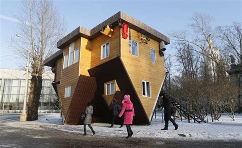 Upside Down House On Display In Moscow