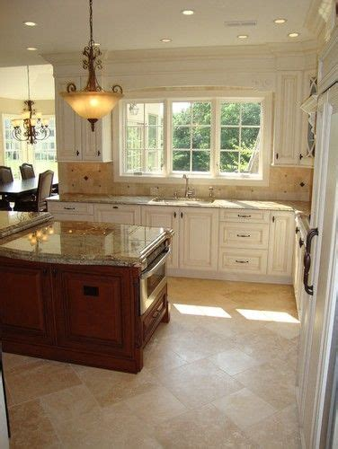 kitchen with cabinets travertine floor design pictures remodel decor and ideas p 3493