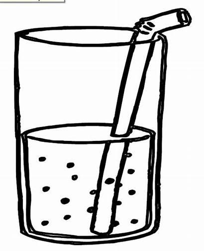 Coloring Pages Drinks Kindergarten Preschool Juice Drink