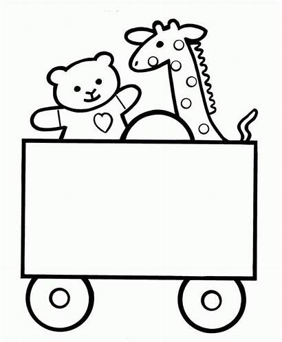 Coloring Easy Pages Toybox Cart Toy Bestcoloringpagesforkids