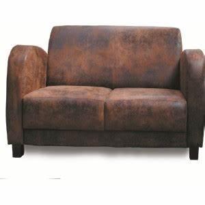 canape deux places microfibre vieux cuir With vieux canapé cuir