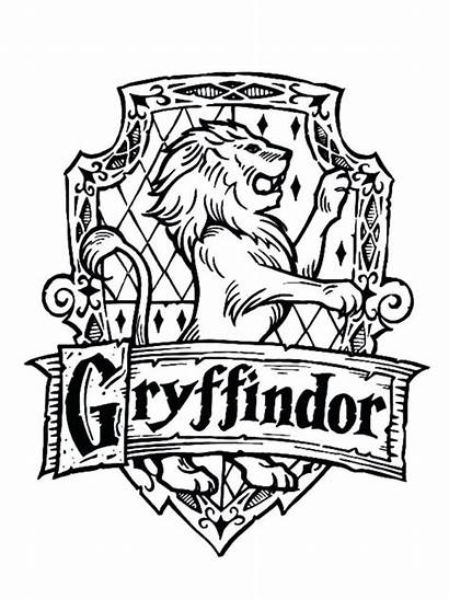 Gryffindor Coloring Symbol Potter Harry Printable Easy