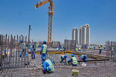 dubai construction business activity hits  month high