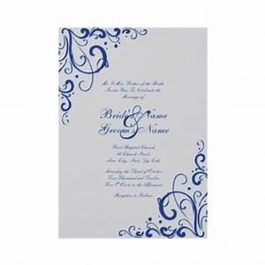 royal blue and gray flourish wedding invitation this With royal blue and grey wedding invitations