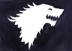 Game of Thrones House Stark Wolf Stencil