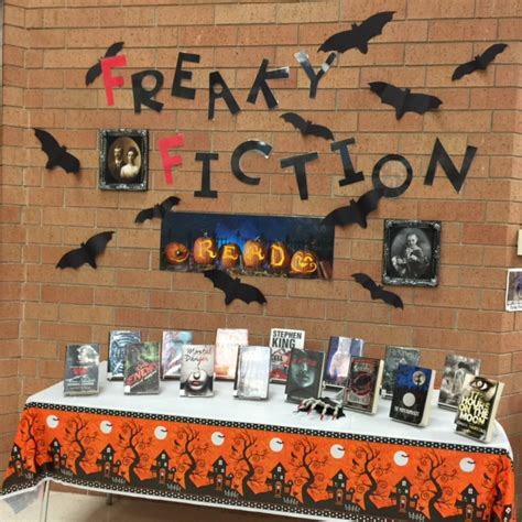 Freaky Fiction Halloween Book Display  Library Ideas