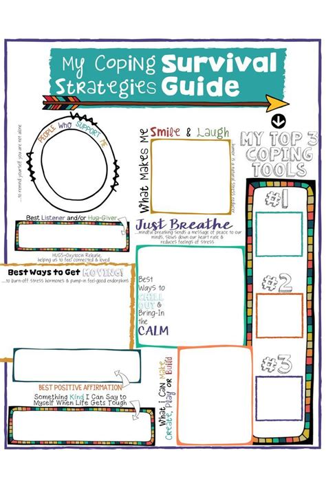 kids coping skills school counseling lesson posters art