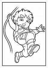 Coloring Diego Pages Dora Go Boy Smart Printables Adventures Abigail sketch template