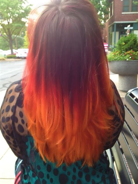 somehitng   fire hair color ombre