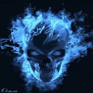 Second Life Marketplace - Blue Flame Skull Picture