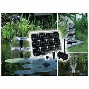 Bulleur Pour Bassin : pompe solaire jet d 39 eau de bassin performante 30 w 750l h ~ Premium-room.com Idées de Décoration