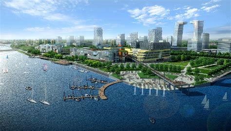 Ecocity shore line landscape design,Caofeidian