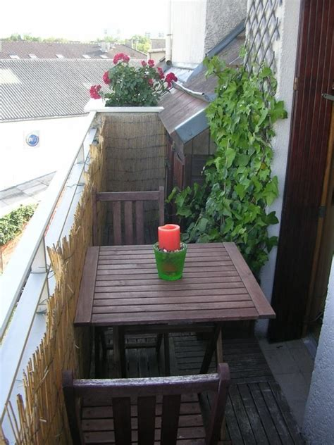 Kleiner Tisch Balkon by Balkonverkleidung Kleiner Balkon Bambusmatten Spaliere