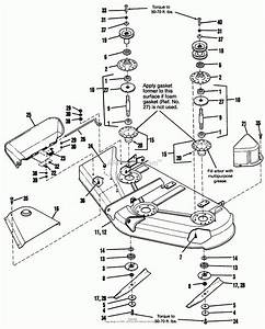 Cub Cadet Lt1050 Deck Parts