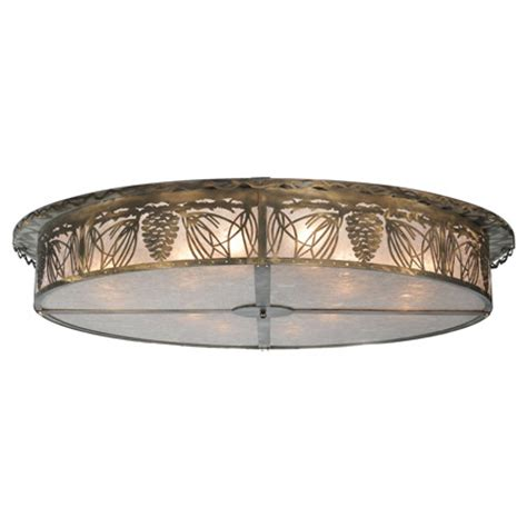 meyda  mountain pine flush mount ceiling fixture