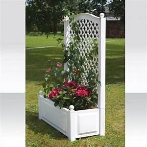 Bac à fleurs en plastique avec structure pour plantes grimpantes Jardin Entretien