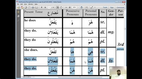 grammar  arabic grammar present  future tense