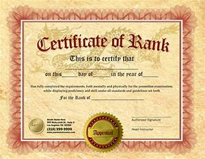 rank certificate 85 x 11 ma010501 With karate certificates templates free