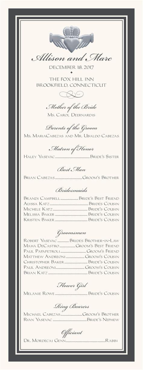 wedding programs wedding program wording program samples