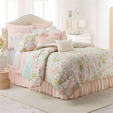 lc lauren conrad tea berry 3 pc reversible comforter set