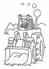 Digger Coloring Tractor Pages Colouring Characters Printables Fictional Sheets Tractors sketch template