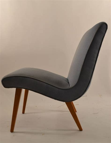 russel wright low armless lounge chair conant