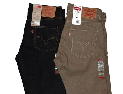 Levi's Men's 511 Skinny Fit Jeans 2 Colors 34 X 32