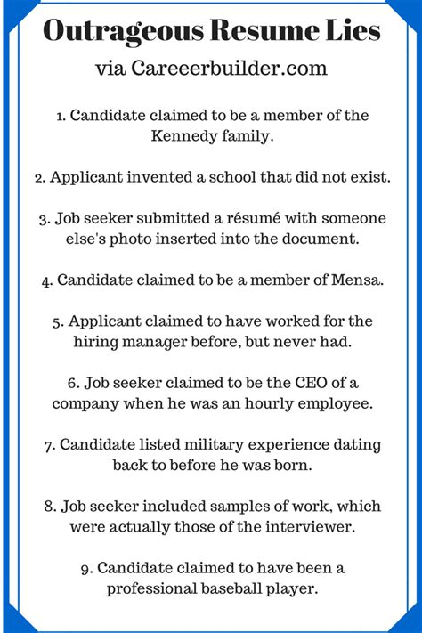 access profiles inc 8 resume lies tips to help